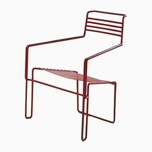 Bent and Painted Iron Chair by Costa Coulentianos, 1990