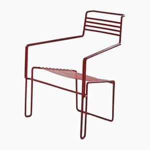 Gebogener und Lackierter Stuhl aus Eisen von Costa Coulentianos, 1990