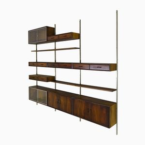 Modular Rosewood Veneer Wall Unit by Kai Kristiansen for FM Møbler