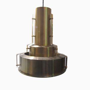 Skandinavische Messing Deckenlampe, 1950er