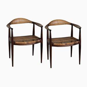 The Chair von Hans J. Wegner für Johannes Hansen, 1950er, 2er Set