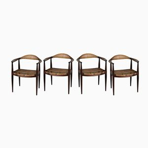 The Chair by Hans J. Wegner for Johannes Hansen, 1950s, Set of 4