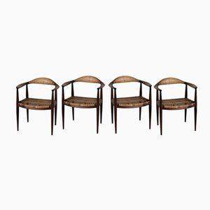 The Chair by Hans J. Wegner for Johannes Hansen, 1950s, Set of 4