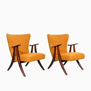 Mid-Century Dutch Lounge Chairs, Set of 2
