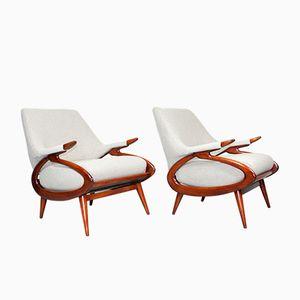 Sculptural Organic Dutch Lounge Chairs, 1960s