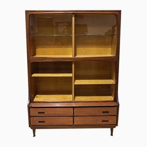 Teak & Oak Glazed Bookcase from Meredew, 1960s