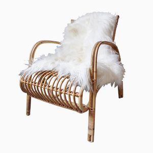 Vintage Danish Bamboo Armchair