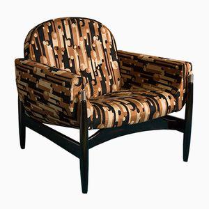 Amerikanischer Ebonisierter Nussholz Sessel, 1950er
