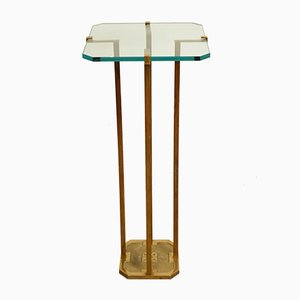 Brass Side Table by Peter Ghyczy, 1970s