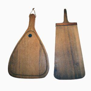 Holz Schneidbretter von Carl Auböck, 50er, 2er Set