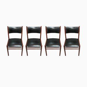 Skandinavische Stühle von Asko, 1950er, 4er Set