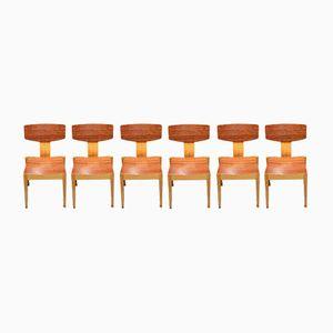 Chaises Empilables par Egon Bro Petersen, 1960s, Set de 6