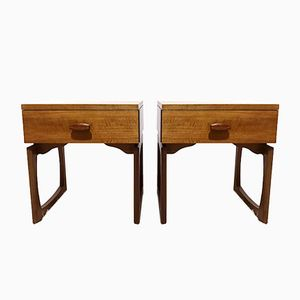 Mid-Century Quadrille Bedside Tables by R. Bennett for G Plan, Set of 2