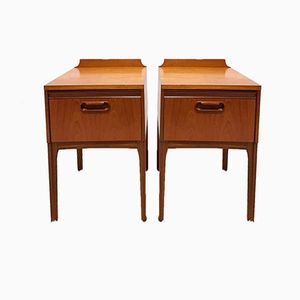 Bedside Tables from William Lawrence, 1960s, Set of 2