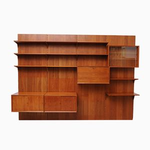 Mid-Century Teak Royal System Wall Unit by Poul Cadovius for Cado