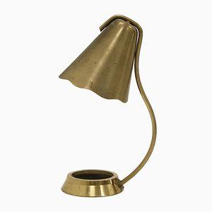 Skandinavische Mid-Century Messing Tischlampe, 1950er