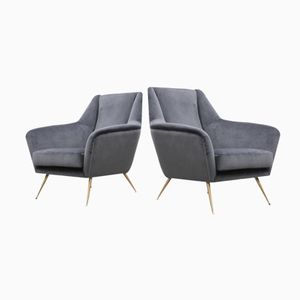Mid-Century Armchairs from ISA Bergamo, Set of 2