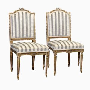 French Style Side Chairs, 1890, Set of 2