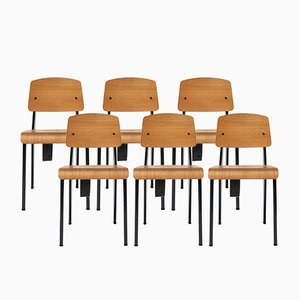G-Star RAW Standard Chair by Jean Prouvé for Vitra, 2011, Set of 6