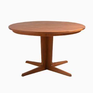 Vintage Danish Round Dining Table by Bernhard Pedersen & Son