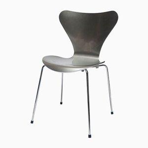 Chaise Argentée Silver Special Edition 3107 par Arne Jacobsen pour Fritz Hansen