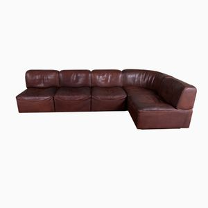 DS 15 Leather Modular Sofa from de Sede, 1970s