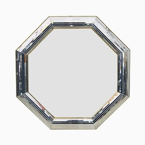 Octagonal French Mirror, 1950s