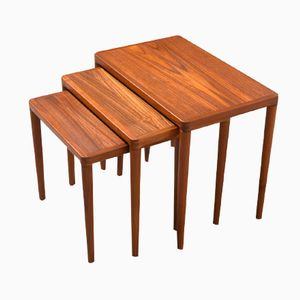 Danish Teak Nesting Tables from Bramin, 1960s