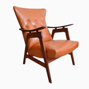 Organically-Shaped Teak Armchair, 1950s