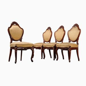 German Upholstered Dining Chairs, 1880s, Set of 4