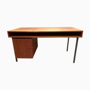 Scandinavian Teak & Metal Desk, 1950s