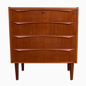 Vintage Danish Chest of Drawers with Four Drawers