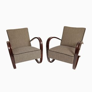 Lounge Chairs by Jindrich Halabala, 1930, Set of 2
