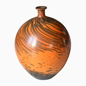 French Earthenware Sealed Vase by Michel Mars, 1990s
