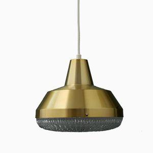 Vintage Copper & Crystal Pendant Lamp