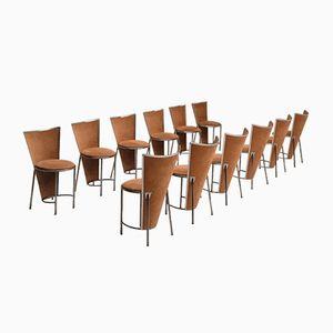 Vintage Dining Chairs by Frans Van Praet, Set of 12