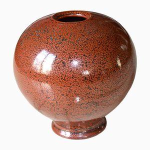 Vintage Steingut Emaillierte Vase von Daniel de Montmollin