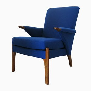 Vintage British Blue Armchair from Parker Knoll, 1960s