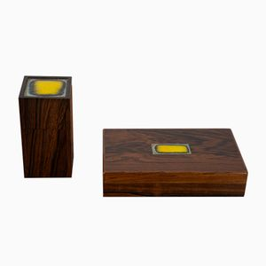 Danish Modern Rosewood Boxes by Bodil Eje for Alfred Klitgaard