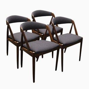 Dining Chairs by Kai Kristiansen for Schou Andersen Møbelfabrik, Set of 4
