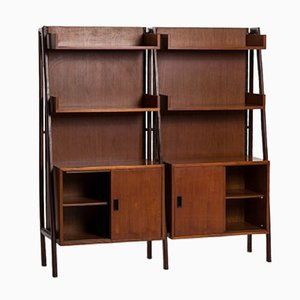 Teak Free Standing Shelf Unit, 1960s