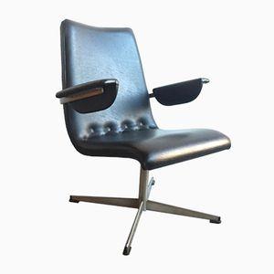 Vintage Easy Chair with Black Skai