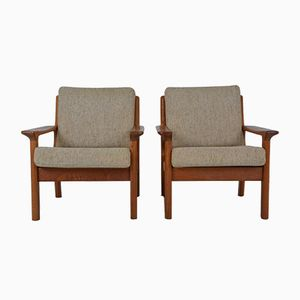 Scandinavian Teak Armchairs by Juul Kristensen for Glostrup, 1960s, Set of 2