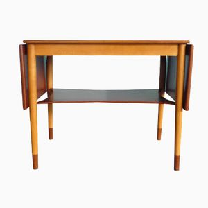 Vintage Danish Folding Table by Borge Mogensen for Søborg Møbler, 1950s