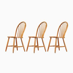 Windsor Chairs, 1950s, Set of 3