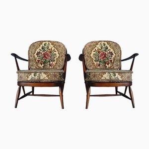 Modell 203 Vintage Sessel von Lucian Ercolani für Ercol, 2er Set