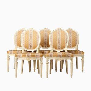Antike Gustavianische Stühle, 5er Set