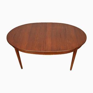 Mid-Century Teak Extendable Oval Dining Table