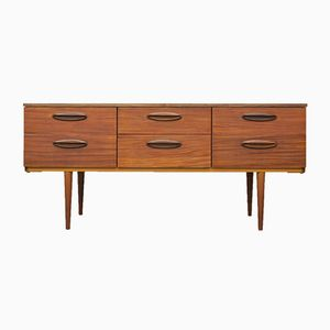 Mid-Century Teak Chest of Drawers with Afromosia Handles, 1960s