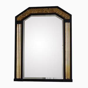 Art Deco Mirror with Beveled Glass, 1930s
